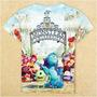 Monster University Franela 3d Importada 100% Cotton Talla 4t