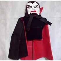 Capa Y Careta Disfraz Dracula Niños Halloween Brovillnet