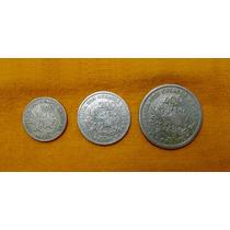 3 Moedas (1901) Série Completa - 100, 200 E 400 Réis Mcmi