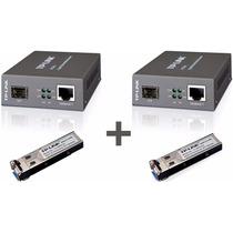 Kit Conversor Fibra Óptica Tl-mc220l + Tl-sm321a + Tlsm321b