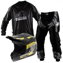 Conjunto Kit Trilha Calça Camisa Capacete Pro Tork Insane