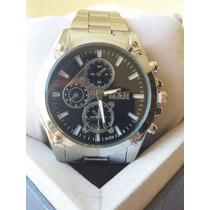 Relógio Masculino Importado M&h Aço Inox Barato !!!
