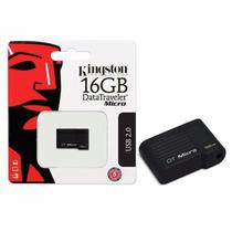 Pen Drive Kingston Mini Dtmck 16gb Dt Micro Prs Usb 2.0