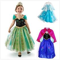 Disfraz Frozen Princesa Elsa Vestido Niña Disney