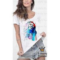Camiseta Blusa Bob Marley Abstrato