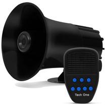 Sirene Automotiva 7 Tons Tech One Microfone Policia Bombeiro