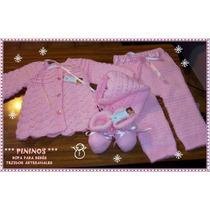 Conjunto Bebé 4 Piezas - Recién Nacido A 3 Meses - Tejido