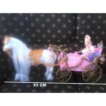Carruagem Barbie Cavalo C/movimento E Som 53 Cm