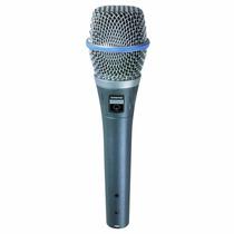 Microfone Shure Beta 87c Com Fio Original - Ótima Qualidade