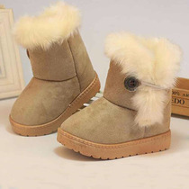 Botas Khak Baby Niña Winter Shoes Anti Slip Rubbe 1 A 6 Años