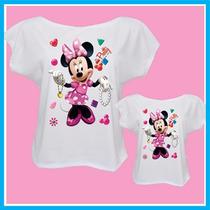 Kit Blusa Feminina Tal Mãe, Tal Filha Minnie, Camisetas