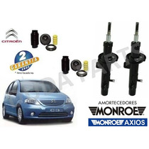 Par Amortecedor Original Monroe + Kit Diant Citroen C3