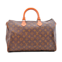Louis Vuitton Autentica Speedy 35 Hand Bag Old Model