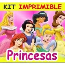 Kit Imprimible De Las Princesas D Disney Diseña Invitaciones