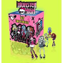 Kit Imprimible Monster High, Invitaciones, Tarjetas, Y Mas.