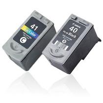 Kit 2 Cartucho Pg 40 + 41 Ip1200 Ip1800 Mp160 P450 S