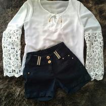 Bermunda Owzzy Jeans Mais Blusinha