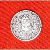 Moneda Italiana 1 Lira 1867 Plata.