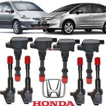 Bobinas Ignição Honda Fit 1.4 8v 04 Traseira E 04 Dianteira