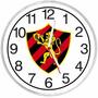 Relógio De Parede Decorativo Sport Recife Em Plástico
