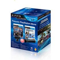 Kit Move Completo Com 2 Jogos Originais Playstation 3 - Ps3