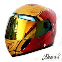 Capacete Moto Homem De Ferro Iron Man Masei