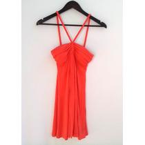 Vestido Forever 21 Algodón Color Coral Talle M