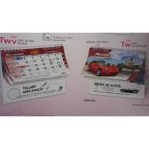 Promocional Calendario De Escritorio Base Carton Con Tu Logo