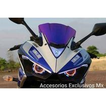Par Faro Ojo De Angel R3 R6 Demonio Lupa Xenon Led Foco Moto