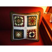 Almohadon Crochet Funda Con Cierre Retro Vintage