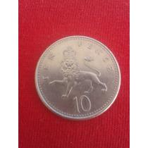 Moeda 10 Pence Da Inglaterra 1992