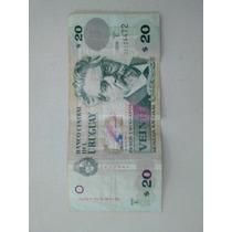 Billete 20 Pesos Uruguayos