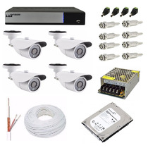 Kit Cftv Dvr Ahd-m Luxvision 8 Ch + 4 Câmera 1.3 Mp + Hd 1tb