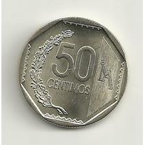 50 Centavos - Moeda Peruana - Unc