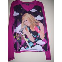 Camiseta Niña Talle 10-12 Años Estampa Hannah Montana
