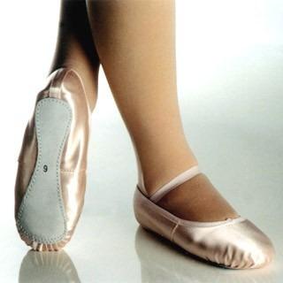 4b4ef06279 Sapatilha De Ballet Rosa De Cetim Meia Ponta 16 A 37 - R  33
