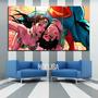 Cuadros Tripticos Comic Wonderwoman-superman-aquaman-ironman