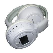 Fone Headfone Branco C\ Radio E Entrada Para Cartão Sd