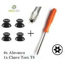 Chave Torx T8 + 4 Botão Analógico Controle Xbox 360 Alavanca