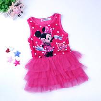 Vestido De Festa Importado Minnie Mouse Frete Grátis 1 Ano