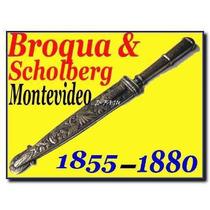 Broqua Scholberg Antiguo Cuchillo Vaina Plata Oro No