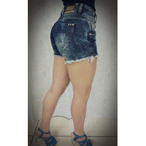Short Saia Jeans Femeninas Water Luxe,levanta Bumbum,linda