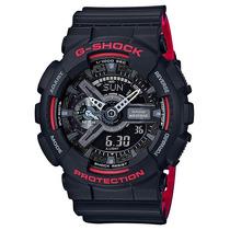 Relógio Casio G-shock Ga-110hr-1a Preto Vermelho Lançamento