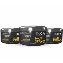 Creme Banho De Brilho Argan/ojon Inka 3pç 500gr
