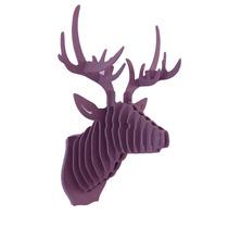 Venado Morado Cabeza Decorativa Animal Trofeo Valchromat8mm