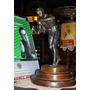 Antigua Estatuilla Boxeador De Peltre C/base 30cm (3914)