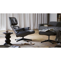 Sillon Eames Lounge Con Ottoman Black Edition By Samma Home