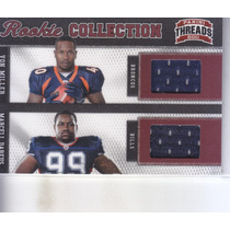 2011 Threads Rookie Jersey Von Miller Marcell Dareus /299
