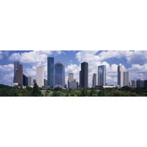 Poster (91 X 30 Cm) Buildings In A City Houston Texas Usa