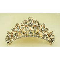 Tiara Coroa Pente Princesa Noivas Festa Strass Debutantes 1